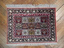 Multi-Color Bakhtiari Handmade 3x2 Persian Qum Silk Rug
