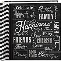 """Pioneer Photo Albums 200-Pocket Chalkboard Printed """"Happiness"""" Theme Photo Album for 4 by 6-Inch Prints by Pioneer Photo Albums"""