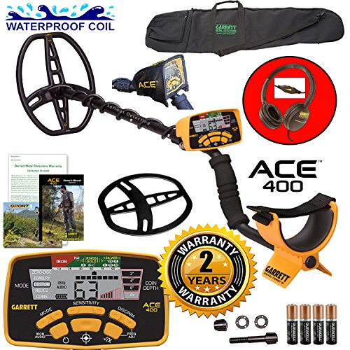 garrett-ace-400-metal-detector-with-dd-waterproof-search-coil-and-carry-bag