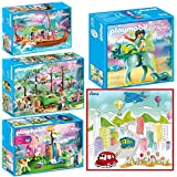 Playmobil Magical Fairy Forest Mega Set Indoor Games with Dimple Washable Coloring Mat (Color: Multicolor)