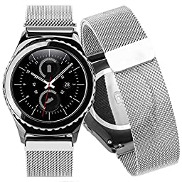 Creazy® Milanese Stainless Steel Band For Samsung Gear S2 Classic SM-R732 (Silver)