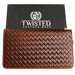 Leather Clutch Purse or Wallet for a Woman - Twisted Leather Bags