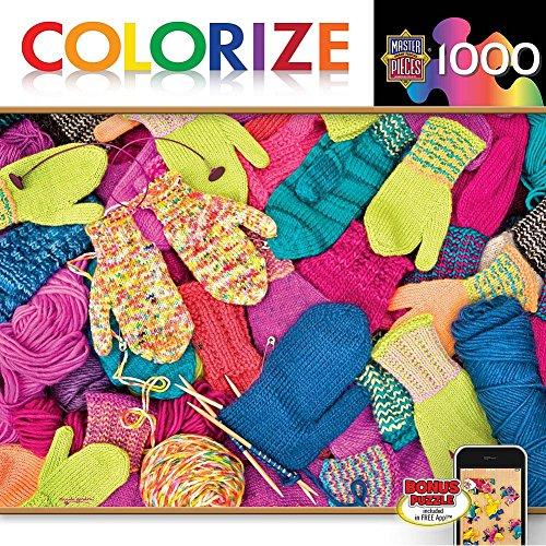 MasterPieces Puzzle Company Colorize! Smitten Jigsaw Puzzle (1000-Piece), Art by Carol Gordon