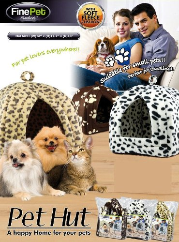 Finepet Products Pet Hut - Brown Paw Print Pattern front-300566
