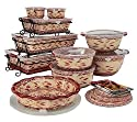 Temp-tations Old World 24-piece Complete Oven- To-table Set, Crasnberry