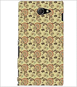 PrintDhaba Pattern D-5210 Back Case Cover for SONY XPERIA M2 (Multi-Coloured)
