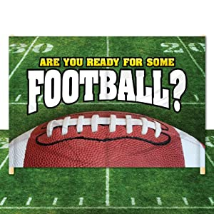Com breakaway football banner 6 x 12 are you ready for some
