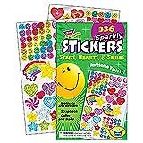 Trend Enterprises トレンド Sticker Pad Sparkly Stars, Hearts, & Smiles 【ご褒美シール】 キラキラ ごほうびシールパッド 大量 336枚