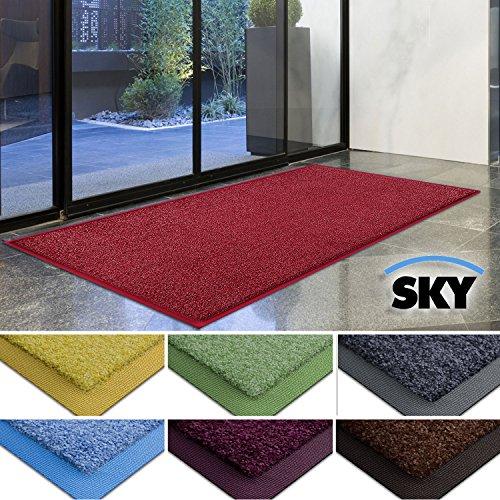 casa-purar-dirt-trapper-barrier-mat-with-matching-rubber-edge-red-85-x-150cm-non-slip-absorbent