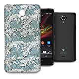 Japanese Wave Illustration Phone Hard Shell Case for Sony Xperia S T Z ZL Z2 & more - Sony Xperia T
