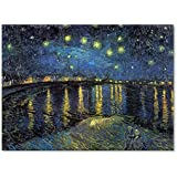 Trademark Fine Art The Starry Night II, 1888 by Vincent van Gogh Canvas Wall Art, 24x32-Inch