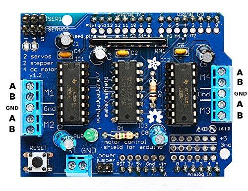 Noctronique L293D Motor Drive Shield Expansion Board for Arduino Duemilanove Mega UNO
