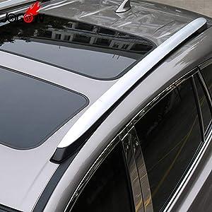 D-World4Pet- 4Pcs For Toyota Rav4 Rav 4 Xa40 2013 2014 2015 2016 2017 2018 Silver Roof Rack Bar Rail End Replacement Cover Shell Accessories