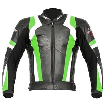 Nouvelle veste de moto RST 1055 lame cuir vert