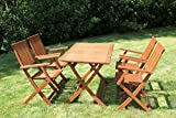 Rite Season Brigitte FSC Eucalyptus 4 Seater Garden Set, with Table