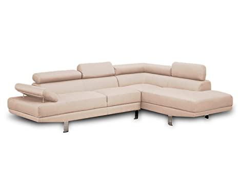 Modern Contemporary Linen Sectional Sofa with (Beige)