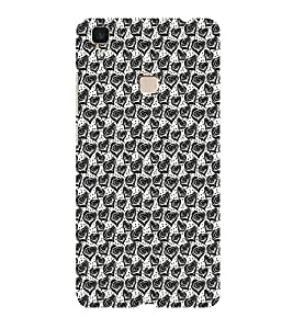 ifasho Designer Phone Back Case Cover Vivo V3 ( All Because Of You Quotes )