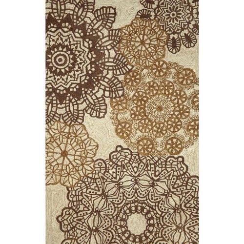 """Liora Manne Ravella Rug Collection - Crochet Neutral, Size: 42"""" X 66"""" Rectangular"""