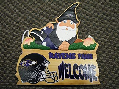NFL Baltimore Ravens Gnome Fence Sign