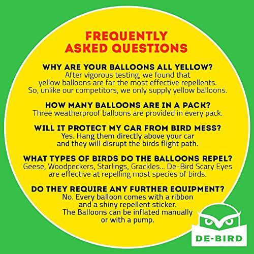 Scare Eye Balloon Bird Repellent 3 Pk Fast And Effective Solution To Pest Problems Scary
