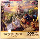 Disney Parks Thomas Kinkade Beauty and the Beast Falling in Love Puzzle 1000 Piece