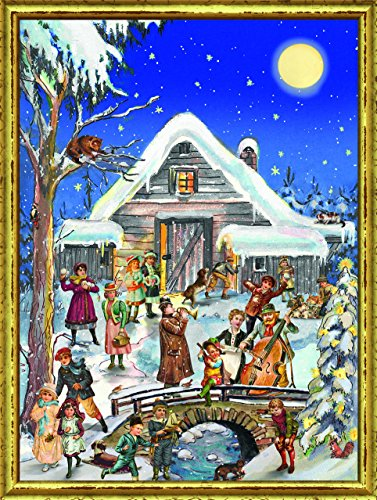 Victorian Winter Villagers German Christmas Advent Calendar Countdown Germany