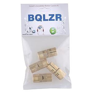 BQLZR 14mm Hidden Invisible Concealed Copper Hinge for DIY Wooden Door Pack of 4