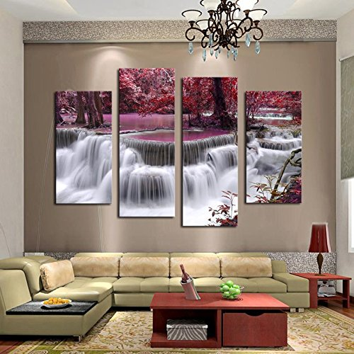 Mangrove With Waterfall Modern Home Wall Decor Canvas Picture Art HD Print Painting Canvas Arts Wooden Frame Modular wall paintings (Modular Arts Wall Panels compare prices)