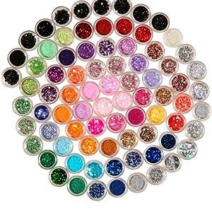 eSecure : Magnifique Kit de décoration pour les ongles, les yeux, et le corps composé de 80 couleurs