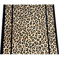 Dean Cheetah Carpet Rug Hallway Stair Runner - Custom Lengths - Purchase by the Linear Foot