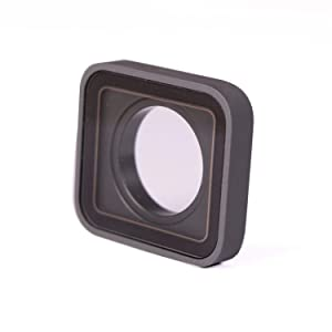 Protective Camera Lens Cover Glass Replacement Part for GoPro Hero 5/6 Black, wi