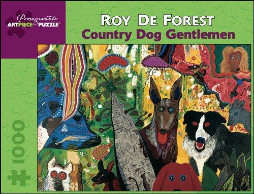 Roy De Forest 1000 Piece Puzzle Country Dog Gentlemen