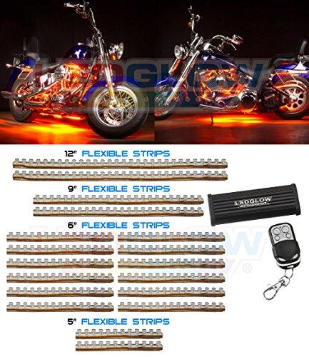 18 Piece 312 Led Orange Motorcycle Lighting Kit