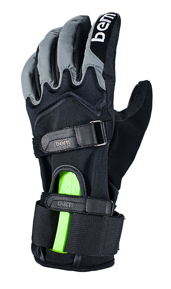 Bern Men's Leather with Removable Wrist Guard Gloves: Amazon.co.uk ...