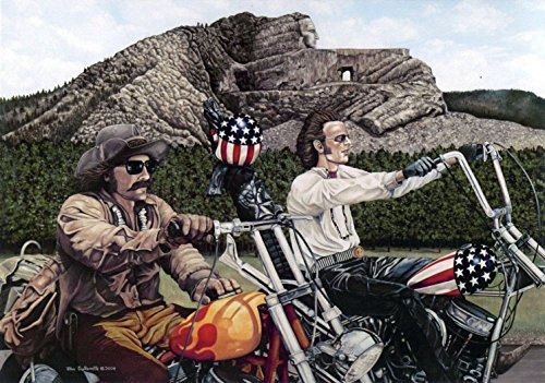 easy-rider-theme-18x24-motorcycle-wall-art-print-signed-by-artist-sturgis-crazy-horse-monument-custe