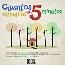 Cuentos Infantiles en 5 minutos [Classic Stories for Children in 5 Minutes] Audiobook by  The Brothers Grimm, Hans Christian Andersen, Joseph Jacobs, Charles Perrault Narrated by Alba Sola