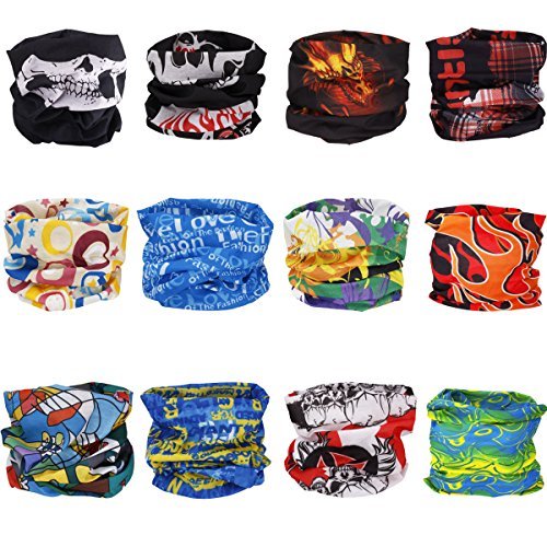 YiZYiF-Outdoor-Multifunctional-Magic-Scarf-for-ATVUTV-Seamless-Bandanas-Muffler-Scarf-Face-Mask-with-UV-Resistance-10Pcs12Pcs-Assorted-12-Pcs-Skull