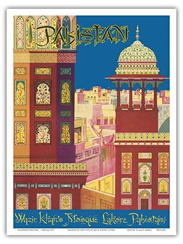 pakistan-wazir-khans-lahore-pakistan-moschea-musulmana-stile-vintage-motivo-mondo-poster-di-art-inst