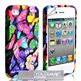 iPhone 4 / 4S Multicoloured Butterfly Silicone Case