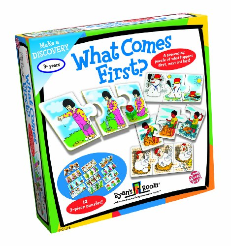 Small World Toys Ryan's Room Educational - What Comes First Sequencing Game - 1