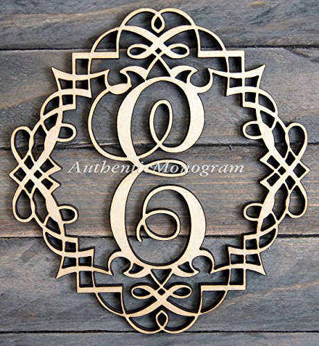 "Wooden Clasic Frame Single Letter Painted Monogram, Home Decor, Anniversary, Initial Monogram, Door Hanger, Guarden Decor. (24"")"