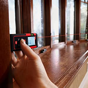 UNI-T LD60 Laser Distance Meter 60M/196ft Handheld Mini Measure Finder Diastimeter with Function of Self Calibration. (Tamaño: UNI-T LD60 196ft)