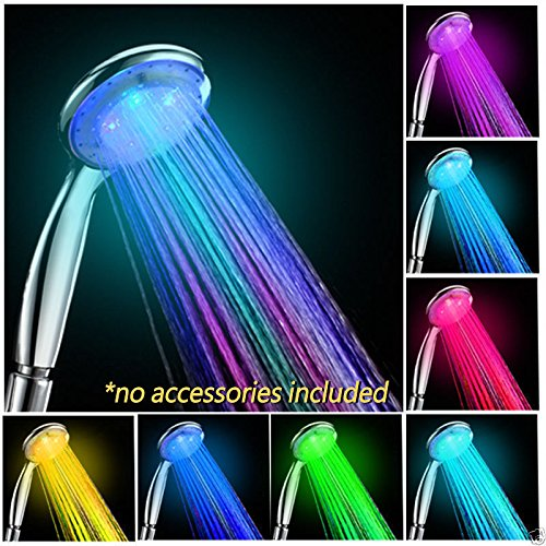 NEW Colorful Head Home Bathroom 7 Colors Changing LED Shower Water Glow Light (Vortex Shower Head compare prices)