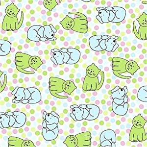 Velvafleece cute polka dot pets dogs cats for Cute baby fabric prints