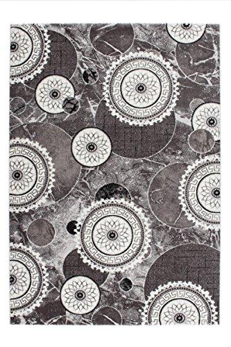 Lalee-347253388-Hochwertiger-Designer-Teppich-mit-mellierten-Kreisen-und-Lurex-Garn-3D-Optik