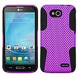 BlueAurora(TM) LG Optimus L90 / Optimus Hybrid TPU Mesh Case & FREE B.A. Stylus Pen-Retail Packing (Black/Purple)
