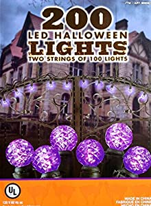 Purple 200 LED Halloween Lights - 2 Strings of 100 each G12 by Led lights