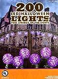 Purple 200 LED Halloween Lights - 2 Strings of 100 each G12