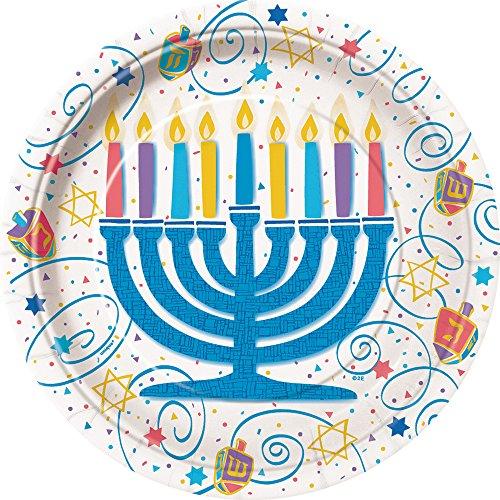 Festive Hanukkah Dinner Plates, 8ct - 1