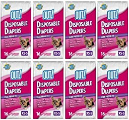 OUT! Small Disposable Fashion Diapers 128ct (8 x 16ct)